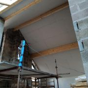 Full internal board and skim and external monocouche parex system.